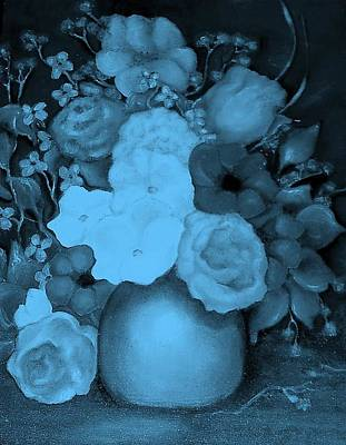 Painting - Flowers In Blue by Jordana Sands
