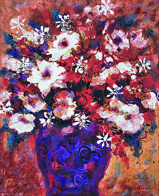 Painting - Flowers In Blue Vase by Natalie Holland