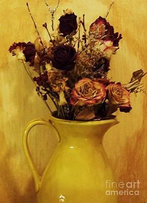 Flowers In Gold Original by Marsha Heiken