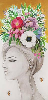 Flowers In Her Hair Original
