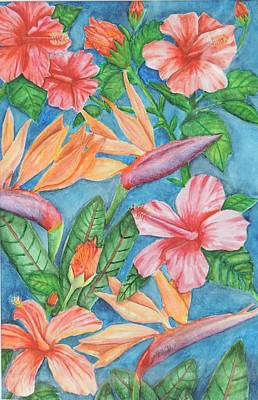Flowers In Paradise Art Print by Katiana Valdes