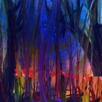 Digital Art - Flowers In The Forest by Bill Minkowitz