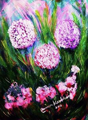 Painting - Flowers In The Garden by Wanvisa Klawklean
