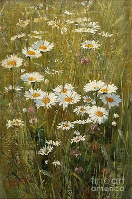 Painting - Flowers In The Meadow by Celestial Images