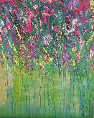 Painting - Flowers In The Park - Sold by George Riney