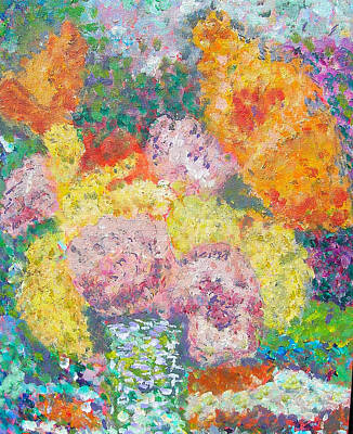 Painting - Flowers In The Rain by Carolyn Donnell
