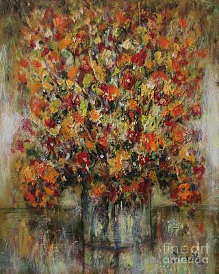 Painting - Flowers In The Vase by Dariusz Orszulik