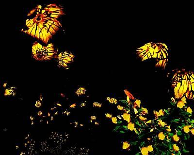 Digital Art - Flowers In The Wind by Cliff Wilson