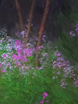 Digital Painting - Flowers In The Woods by David Lane