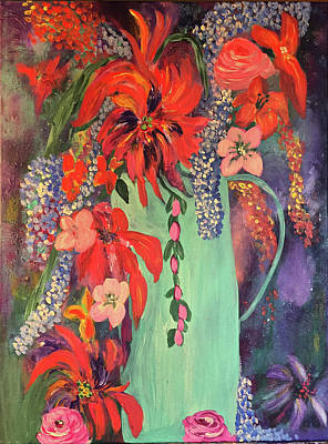 Painting - Flowers In Vase 2 by Angela Holmes