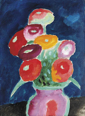 Painting - Flowers In Vase by Celestial Images