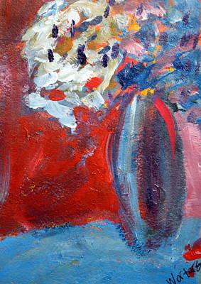 Energetic Painting - Flowers In Vase Eight by Rebecca Merola