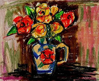 Drawing - Flowers In Vase  by Hae Kim