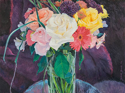 Painting - Flowers In Vase by Judith Barath