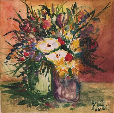 Painting - Flowers In Vases by Reed Novotny