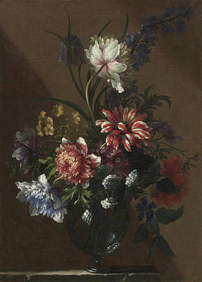 1636 Painting - Flowers by Celestial Images