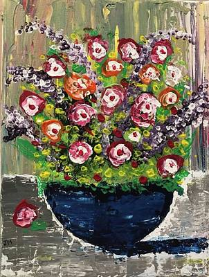 Painting - Flowers by Jim McCullaugh