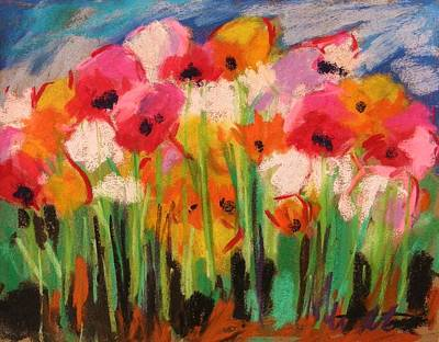 Vivid Colour Painting - Flowers by John Williams