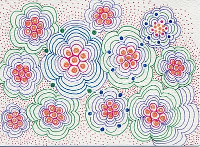 Flowers Art Print by Leslie Genser