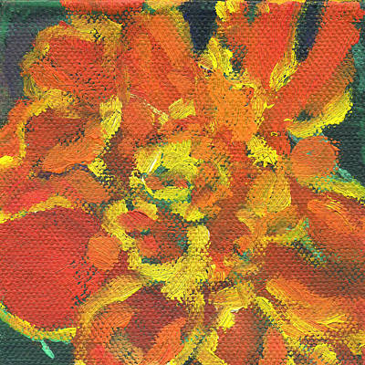 Painting - Flowers Marigold by Kathleen Barnes