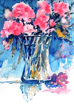 Floral Still Life Painting - Flowers No 5 by Virgil Carter