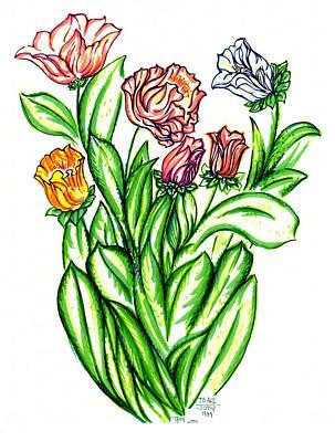 Flowers Of Fantasy Art Print by Judith Herbert