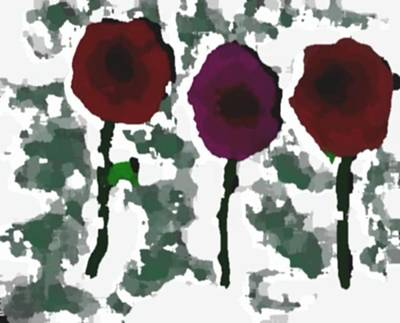 Art Print featuring the digital art Flowers Of Love by Dr Loifer Vladimir
