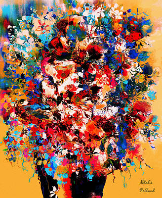 Mixed Media - Flowers Of Love by Natalie Holland