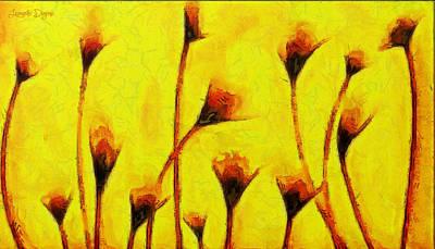 Stylish Painting - Flowers Of Love  - Van Gogh -  - Pa by Leonardo Digenio