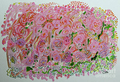 Painting - Flowers Of Pink And Gold by Corinne Carroll