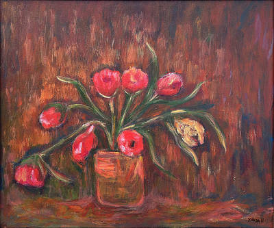 Painting - Flowers Of Pink In Vase by Katt Yanda