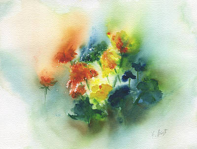 Painting - Flowers Of Spring Abstract by Frank Bright