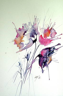 Painting - Flowers Of Summer IIi by Kovacs Anna Brigitta