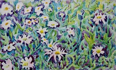 Painting - Flowers Of The 60's by Jan Bennicoff
