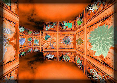 Negative Effect Digital Art - Flowers Of Unrest by Majula Warmoth