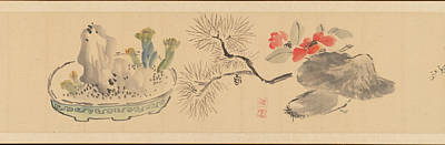 Japanese Painting - Flowers by MotionAge Designs
