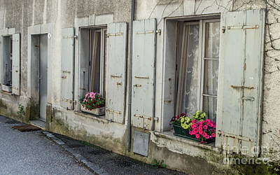 Photograph - Flowers On A Window's Bank by Michelle Meenawong