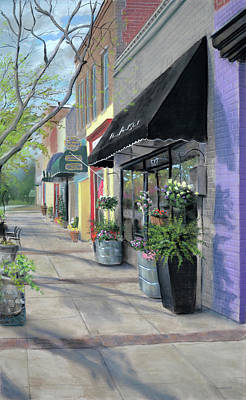 Painting - Flowers On Broad by Christopher Reid