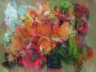 Digital Art - Flowers On Canvas 2 by Yury Malkov