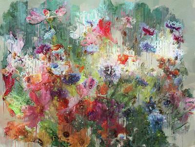 Digital Art - Flowers On Canvas by Yury Malkov