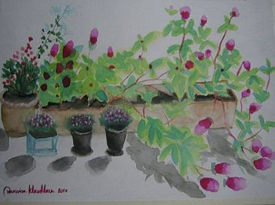 Painting - Flowers On My Balcony by Wanvisa Klawklean