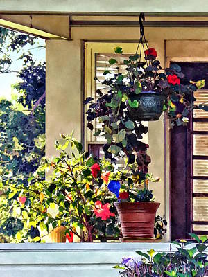 Photograph - Flowers On Porch by Susan Savad