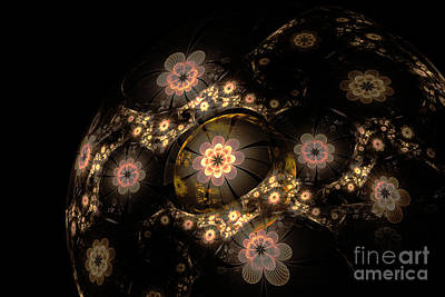 Computer Generated Flower Photograph - Flowers On The Ball by Larissa Antonova