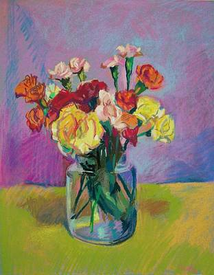 Pickle Jar Of Flowers Art Print by Aletha Kuschan