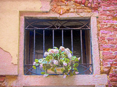 Photograph - Flowers On Windowsill In Venice by Gary Slawsky
