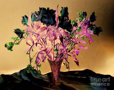 Flowers Over Mounts Art Print