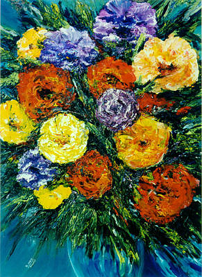 Flowers Painting #191 Art Print by Donald k Hall