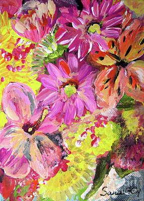 Painting - Flowers Painting by Oksana Semenchenko