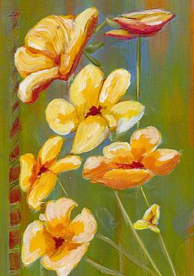 Flowers Art Print by Patricia Cleasby