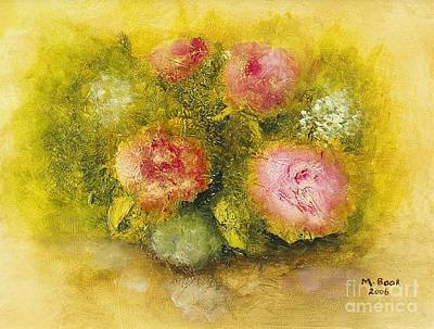 Art Print featuring the painting Flowers Pink by Marlene Book
